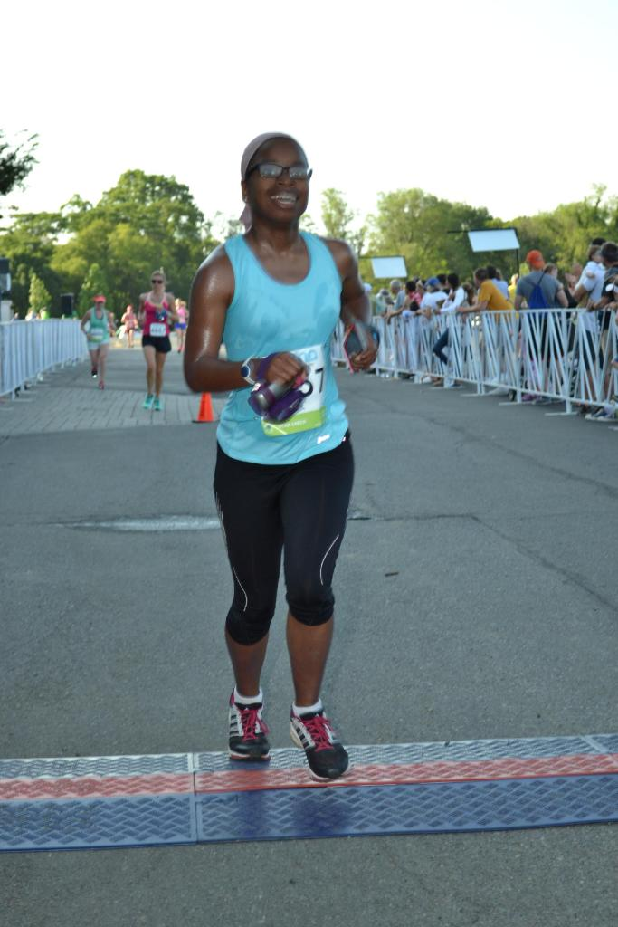 Finishing the Zooma Annapolis 10K!