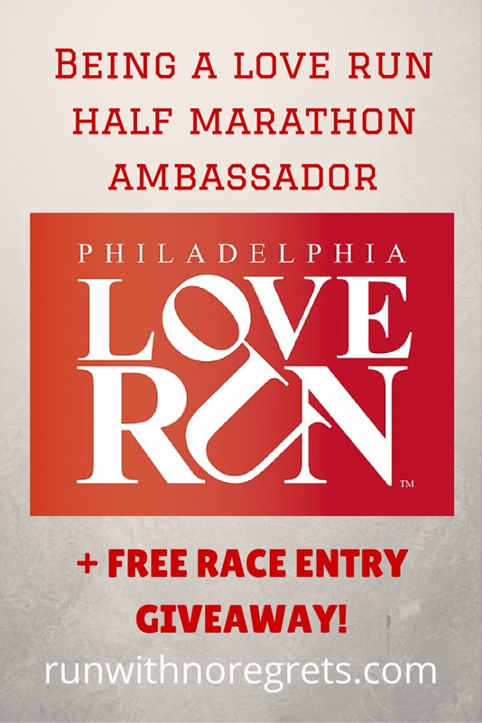 Waited last minute to sign up for the Love Run Half Marathon coming up on April 10? You're in luck because you can win one of 7 free race entries until April 5! Learn about how to become a race ambassador and more running tips on runwithnoregrets.com