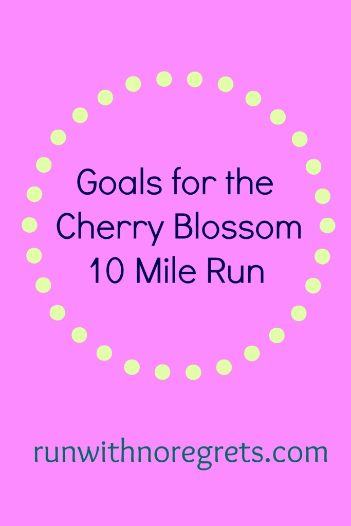 After months of training, it's time for the Credit Union Cherry Blossom 10 Mile Run! I'm sharing my goals for the race! Find more tips on running at runwithnoregrets.com!