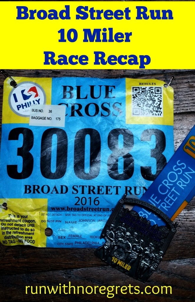 I recently ran the 2016 Broad Street Run in Philadelphia, the largest 10 mile race in the country! So excited to have gotten a PR despite a very rainy race! Check out my recap and more running stories at runwithnoregrets.com!
