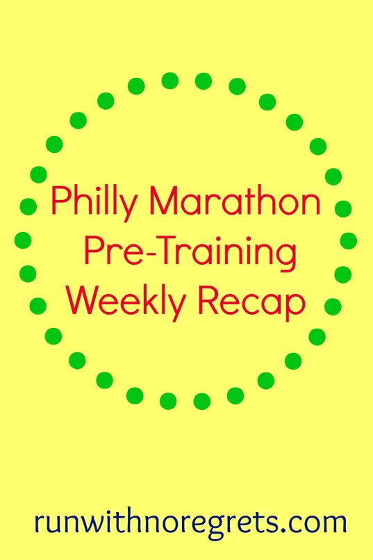 The Philly Marathon is a few months away and I'm building my base to get ready for official race training! Check out my weekly recap and more running resources at runwithnoregrets.com!