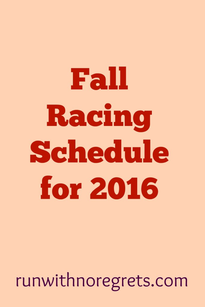 What races are you looking forward to this fall? I'm sharing my fall racing schedule for the fall, which also includes the Philadelphia Marathon! Check out more running on runwithnoregrets.com!