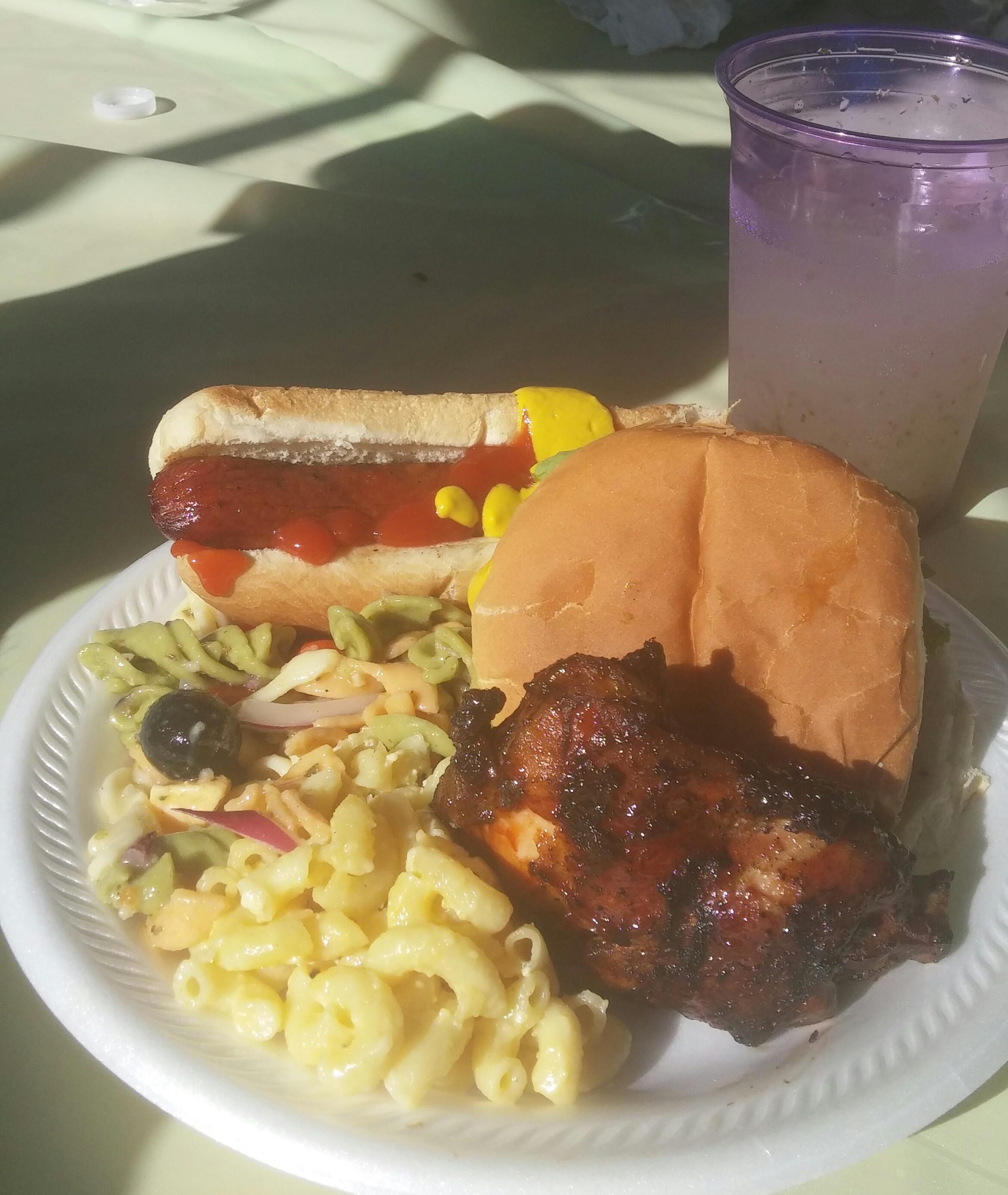 Really tasty food at the Block Party!