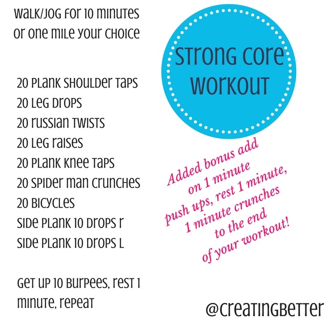 Strong Core Workout from Creating Better Tomorrow