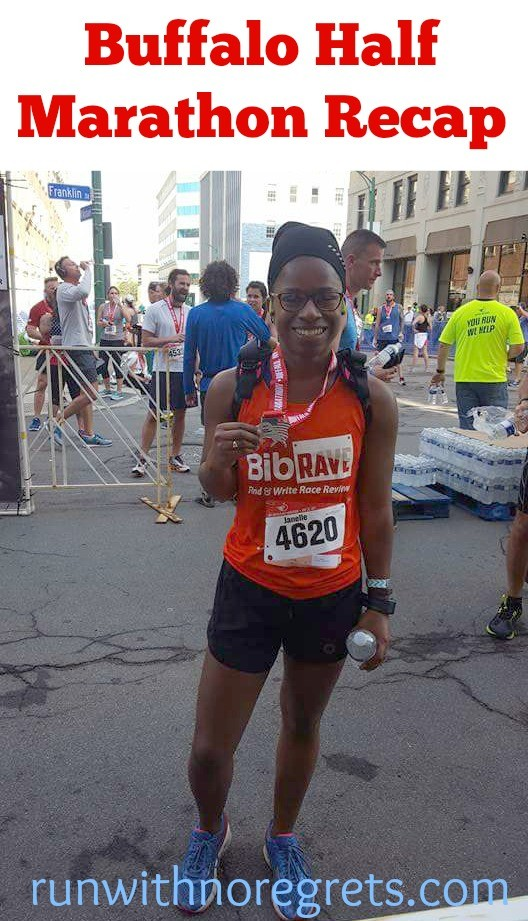 Check out my recap of the Buffalo Half Marathon! I had an incredible experience at this race and highly recommend! Find more race recaps at runwithnoregrets.com!