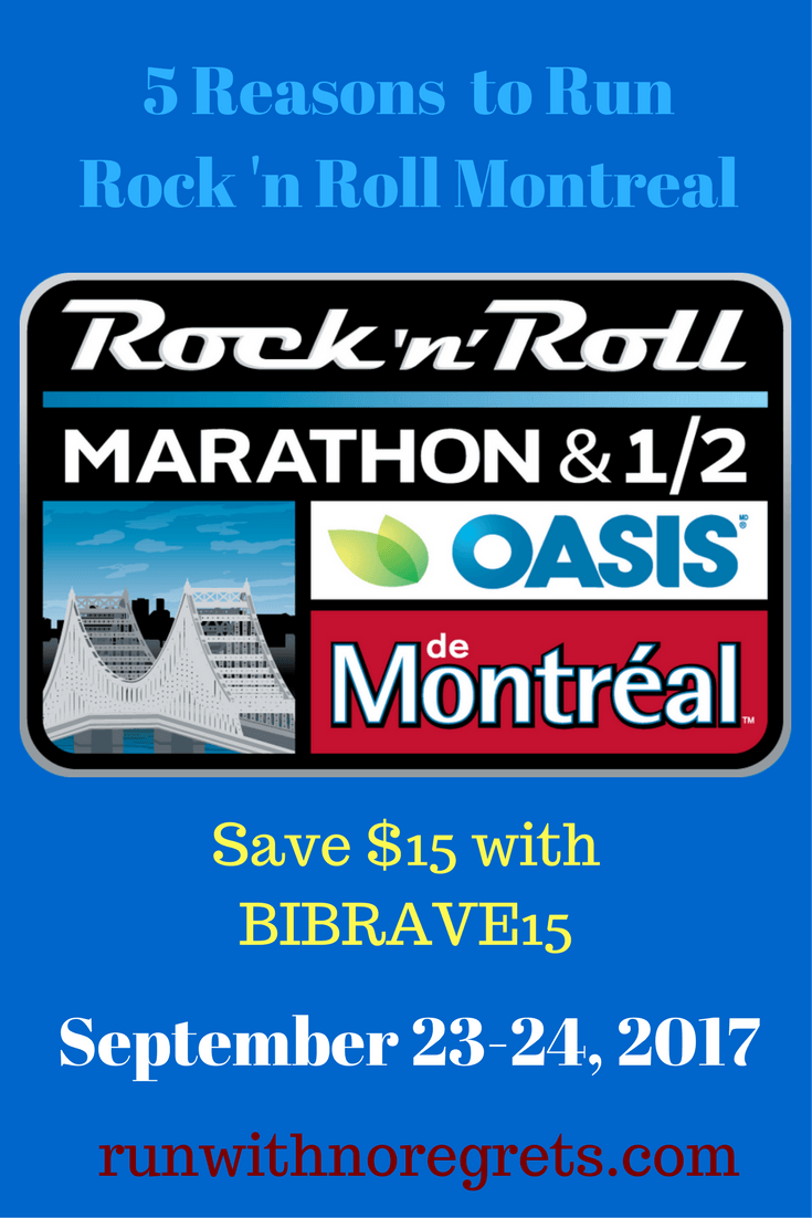 In late September, the Rock 'N Roll Marathon Series is making its way to Montreal! Check out 5 reasons why you should check out this race and save $15 with BIBRAVE15 for the half or full marathon!