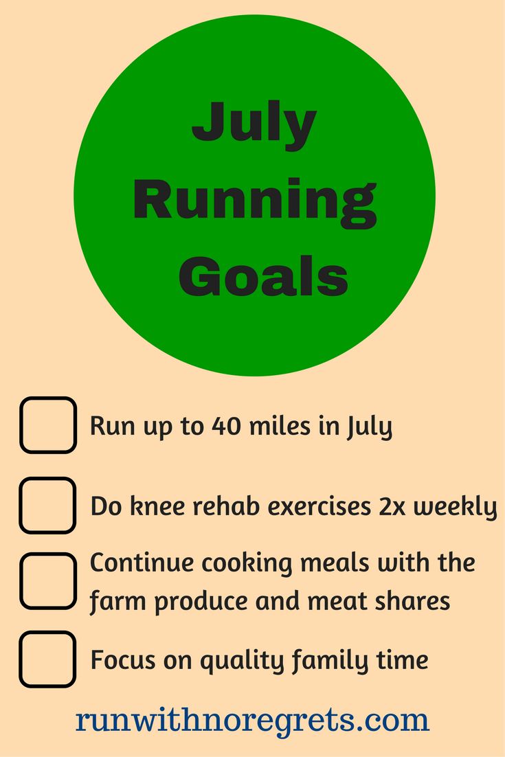 Check out my running goals for the month of July! Check out more running fun at runwithnoregrets.com!