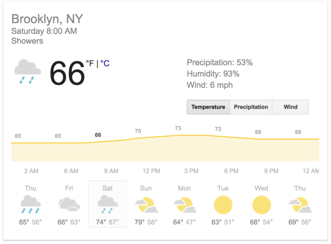 brooklyn half weather