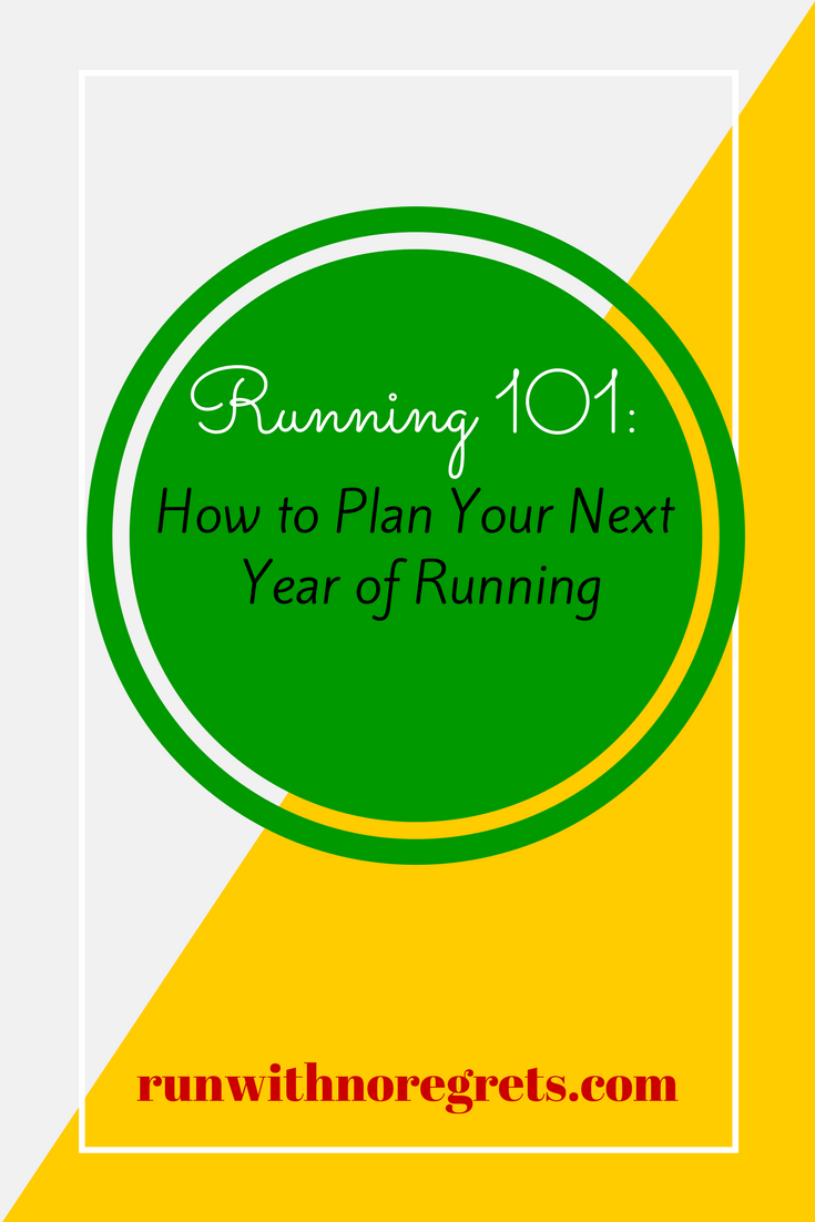 If you're new to running, you may be wondering how to keep this thing going in the new year! For this month's Running 101 I'm sharing tips on how to successfully plan your next year of running and racing! Find more tips at runwithnoregrets.com!