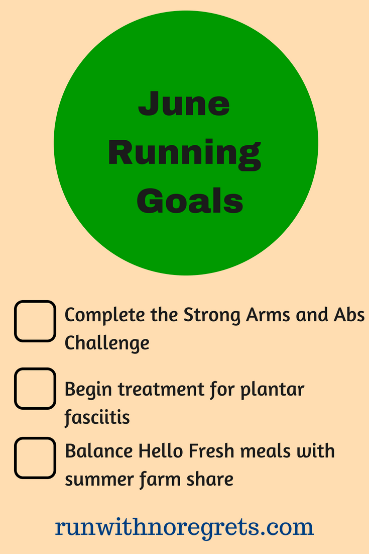 It's always great to set fitness goals and keep yourself accountable. Here are my running goals for June - check out more running fun at runwithnoregrets.com!