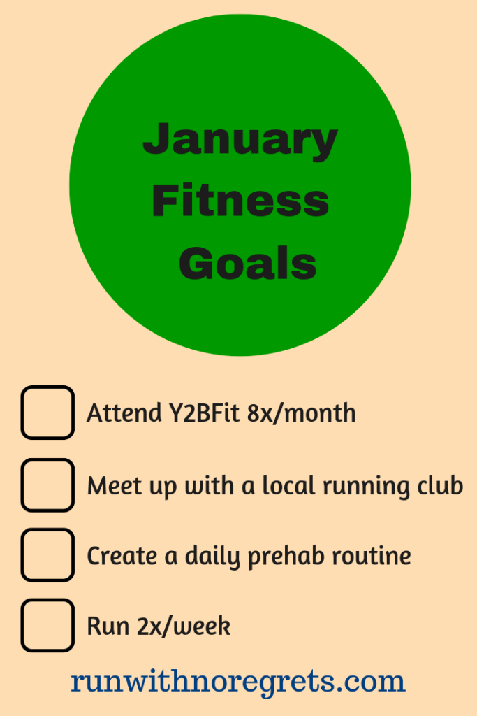 I'm sharing my key running and fitness goals for the month of January!  Find more running motivation and encouragement at runwithnoregrets.com!