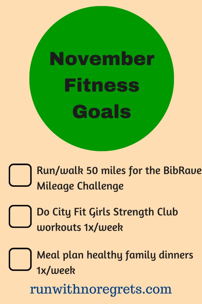November Fitness Goals