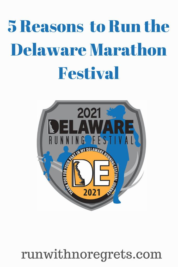I'm sharing 5 reasons why you should participate in the Delaware Marathon Festival taking place on June 13, 2021! This is an in-person and virtual race! Check out more on running at runwithnoregrets.com!