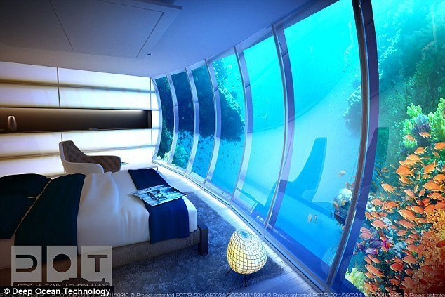 شاهد بالصور : دبي تبني أكبر فندق في العالم تحت الماء