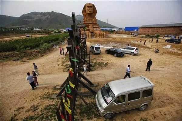 بناء كامل لأبو الهول في الصين نسخة لأبو الهول في الجيزة 2