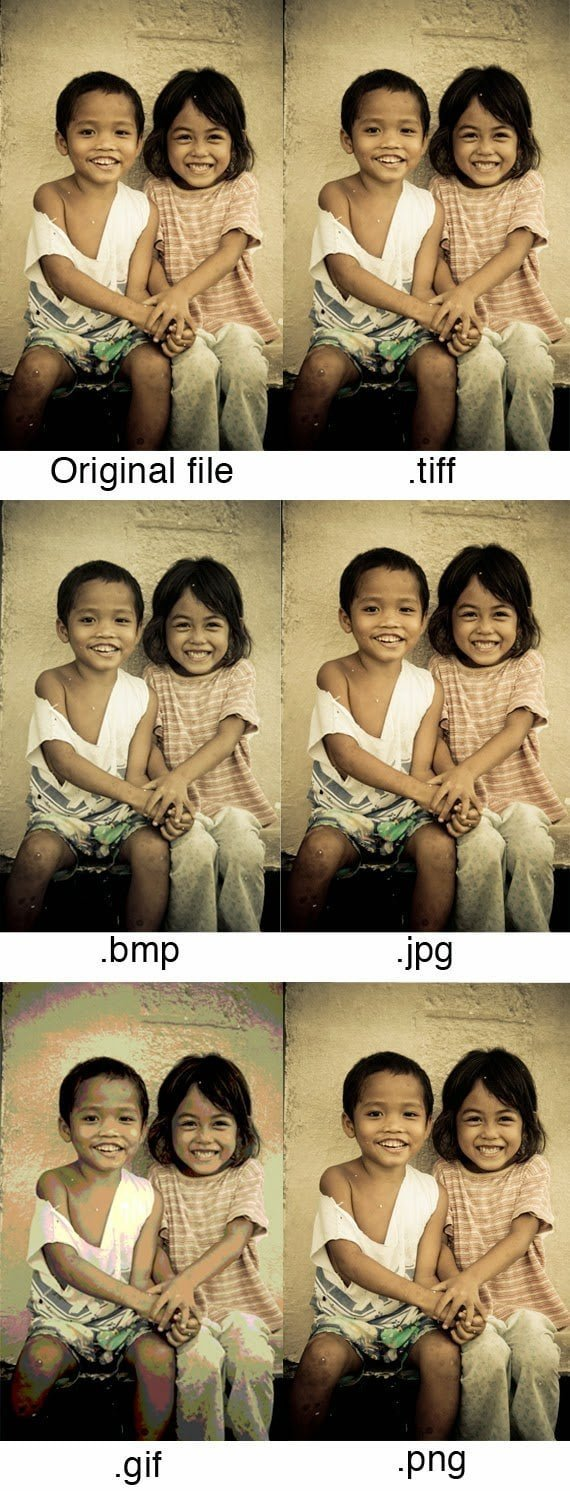 مقارنة بين أهم صيغ و إمتدادات الصور ( TIFF ,JPG, GIF, PNG ) و الفرق بينها 1