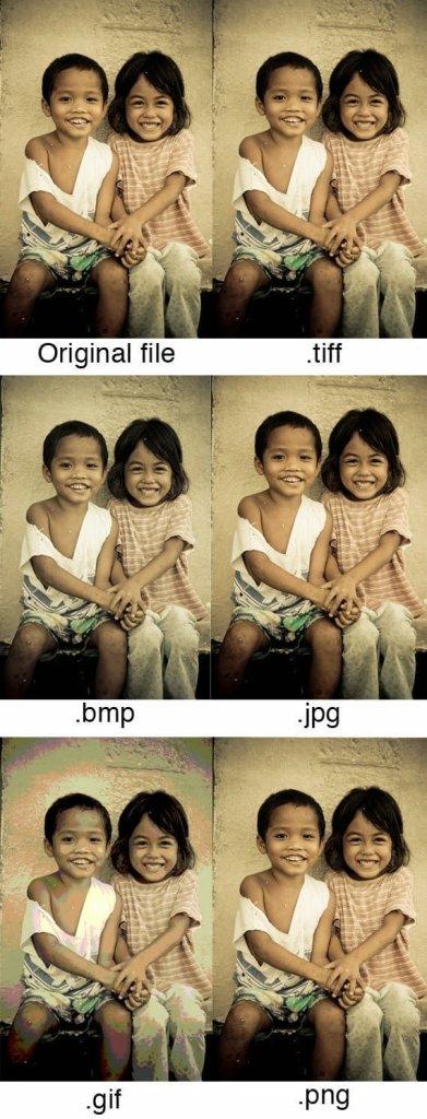 مقارنة بين أهم صيغ و إمتدادات الصور ( TIFF ,JPG, GIF, PNG )