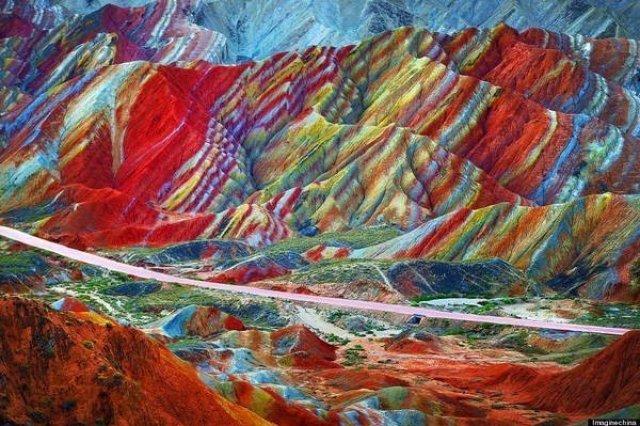 جبال قوس قزح بالصين و جمال طبيعي خلاب 3