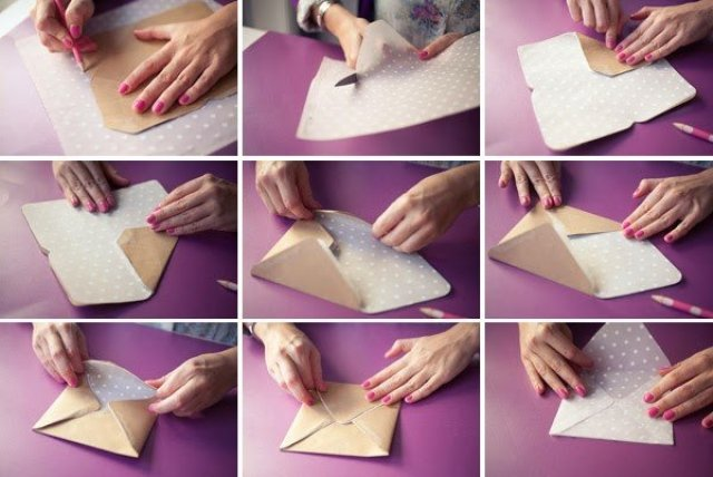 كيف تصنع ظرف من الورق بسيط وجميل - بالصور 6