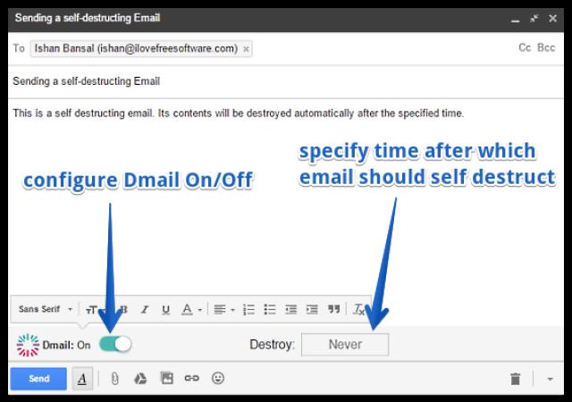 طريقة حذف و تدمير رسائل البريد الإلكتروني ذاتياً بعد إرسالها 5