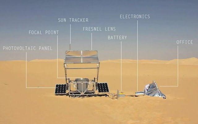 طابعة ثلاثية الأبعاد تحول الرمال إلى زجاج بحرارة الشمس فقط !