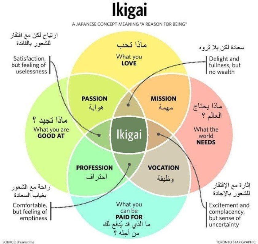 تعرف على فلسفة الإيكيغاي اليابانية Ikigai 2