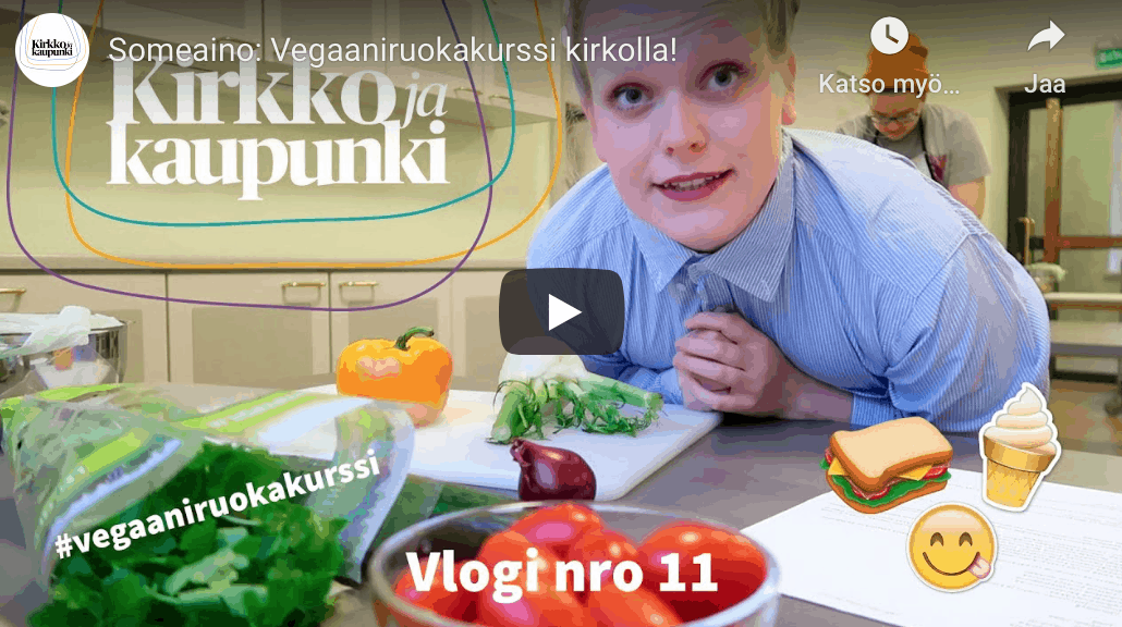 Video vegaaniruokakurssista!