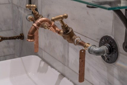 Rupert Gibson Photography Architectural Photography Copyright 2019brass taps at Knottinghill