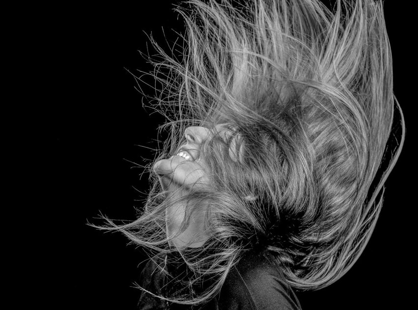 Rupert Gibson Photography 2019 Portraits - hair black and white 3