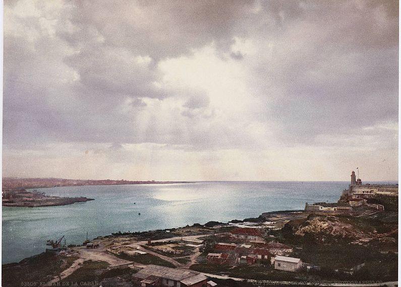 """Der Film """"Una Noche"""" zeigt in melancholischen Bildern die Sehnsucht zweier Kubaner, die auswandern wollen (Alte Postkarte von Havanna; wikimedia commons/ Unbekannter Fotograf)."""