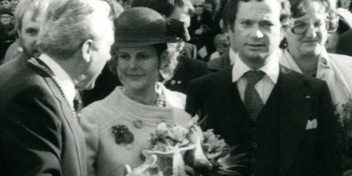 Silvia und Carl Gustav bei ihrem offiziellen Besuch in Heidelberg 1979 (Foto: Stadtarchiv Heidelberg; Dagmar Welker)