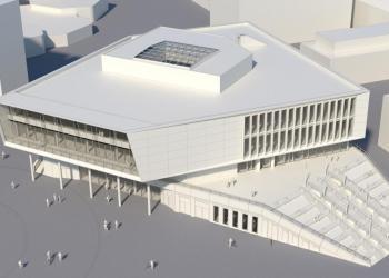 Das Gebäude soll sowohl Hörsaal als auch Lernzentrum beheimaten. Foto: Architekten Bernhardt+Partner, Darmstadt
