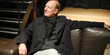 Martin Sonneborn vor seinem Auftritt im Dezember in der Alten Feuerwache in Mannheim. Foto: Nicolaus Niebylski