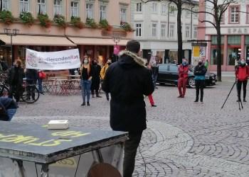 Der Stura beim bundesweiten Aktionstag gegen die Novellierung des Landeshochschulgesetzes am 30.10.2020. (Foto: Stura Heidelberg)