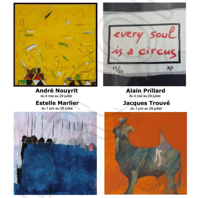 La Galerie d'Art de Villefranche-du-Périgord ré-ouvre ses portes à partir du 19/05 à 10 h.
