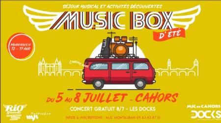 Music Box se déplace à Cahors cet été…