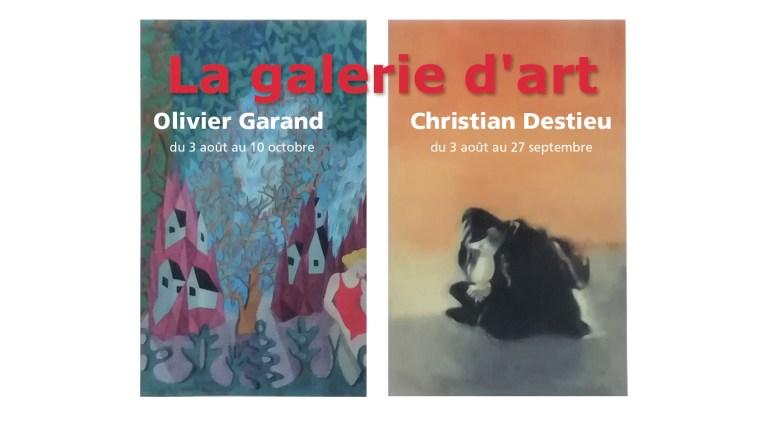 Olivier GARAND et Christian DESTIEU exposent à la galerie d'Art de Villefranche-de-Périgord
