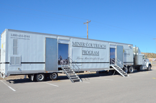 New Mexico Mobile Screening Program for Miners clinic truck