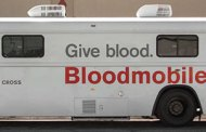 The American Red Cross Bloodmobile scheduled for blood donations