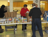 Andover Food Bank receives check from The Rotary