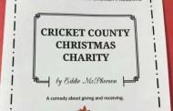"Partridge: Plainview Mennonite Church presents ""Cricket County Christmas Charity"" on Nov 17-18-19"