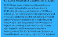 Lindsborg will celebrate The Santa Lucia Festival on Dec 10