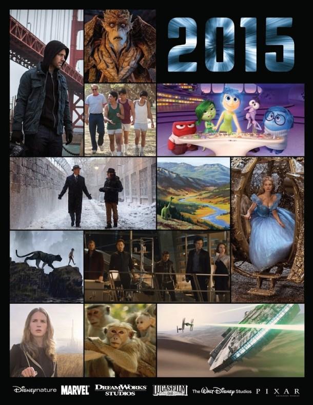 2015 Movie Lineup from Walt Disney Studios #Disney #Marvel