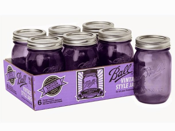 Hugs and Kisses for the new Ball Heritage Collection Purple Mason Jars! #Giveaway