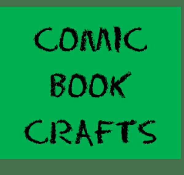 comic book crafts button