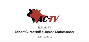 ACTV Episode 12: Robert C. McHaffie Junior Ambassador