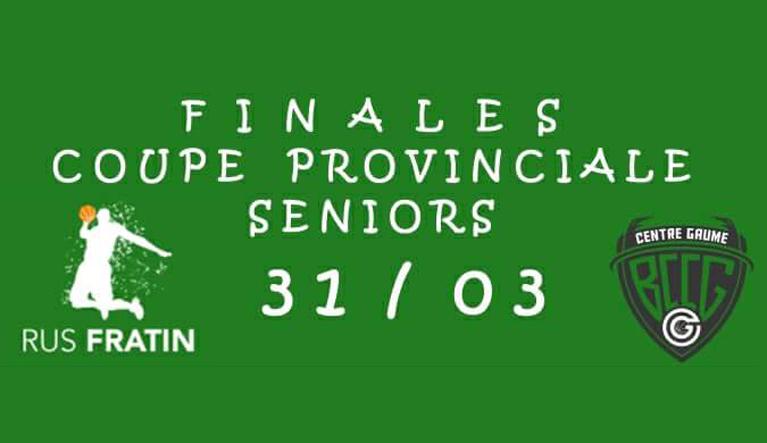 Finale coupe provinciale seniors 31/03