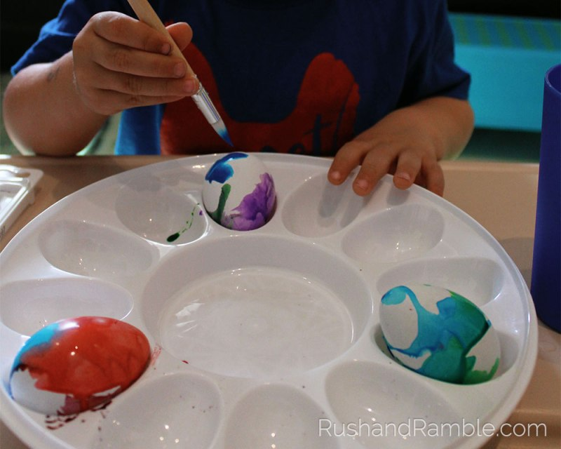 Easter Crafts - Watercolor Eggs | Rush & Ramble