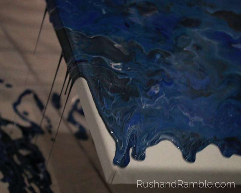 Dirty Pour - Acrylic Pour Fluid Painting for Beginners - Rush & Ramble DIY