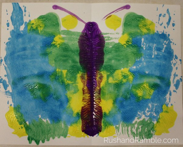 Butterfly Painting | Milkweed, Monarchs and Masterpieces: The Tale of a Preschooler and His Butterfly Garden